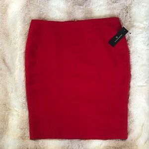 NWT Red Pencil Skirt Worthington Skirt